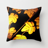 Vintage leaves  Throw Pillow