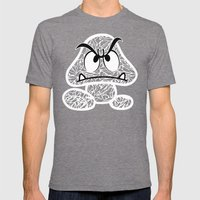Goomba #CrackedOutBadGuy… Mens Fitted Tee Tri-Grey SMALL