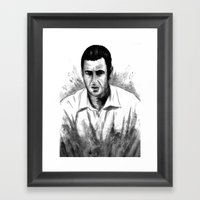 DARK COMEDIANS: Adam Sandler Framed Art Print