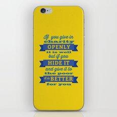 Charity iPhone & iPod Skin