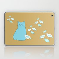 Cat And Birds Laptop & iPad Skin