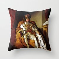 Nick Offerman Is KING!  |  Ron Swanson  |  Parks and Recreation Throw Pillow