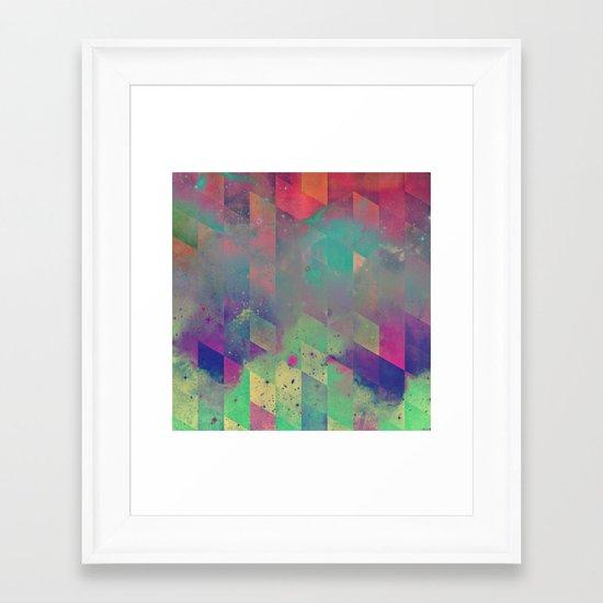 byby vy Framed Art Print