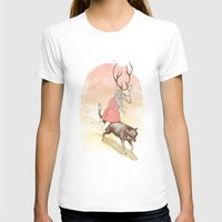 Wolf And Dear Womens Fitted Tee White SMALL