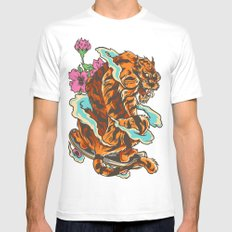Skating Tiger , Hidden F… Mens Fitted Tee White SMALL