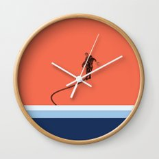 Flyboard through coral Wall Clock