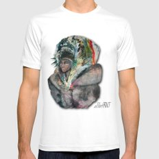 Warrior Portrait White Mens Fitted Tee SMALL
