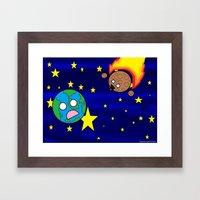 Give the world a hug  Framed Art Print