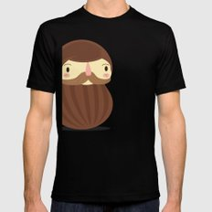 B is for Beard Mens Fitted Tee Black SMALL