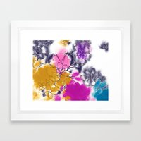 Abstract Flowers - Water… Framed Art Print