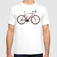 Race Bike Mens Fitted Tee White SMALL