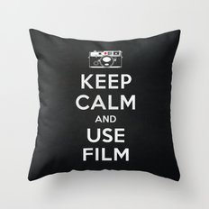 Keep Calm And Use Film Throw Pillow