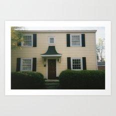 Yellow House Art Print