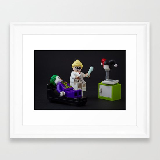 On the couch  Framed Art Print