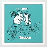 Murmurmaids Art Print