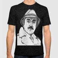 Inspector Clouseau Mens Fitted Tee Tri-Black SMALL