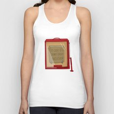 In case of a power failure: read a book Unisex Tank Top