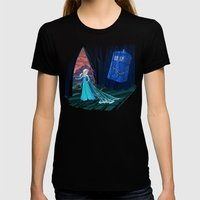 Frozen In Time And Space Womens Fitted Tee Black SMALL