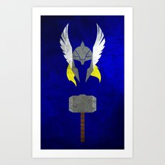 God of Thunder Art Print
