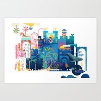 Royals (Sea) Art Print