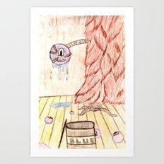 Furry Paint Monster Art Print