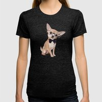 Mr. Chihuahua Womens Fitted Tee Tri-Black SMALL