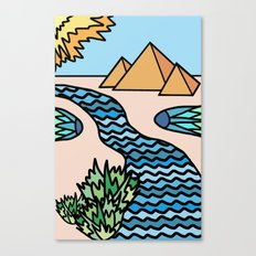 Pyramids with Plants Canvas Print