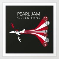 PJ Greek Fans On Tour Art Print