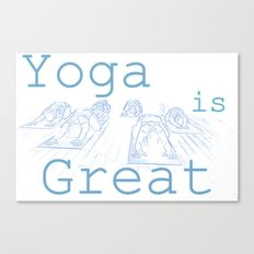 Yoga Is Great : Blues Take Two Canvas Print