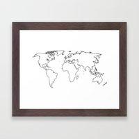 WORLD II Framed Art Print