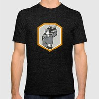 Electrician Carry Electric Plug Retro Mens Fitted Tee Tri-Black SMALL
