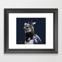 Harpy Eagle On Blue Framed Art Print