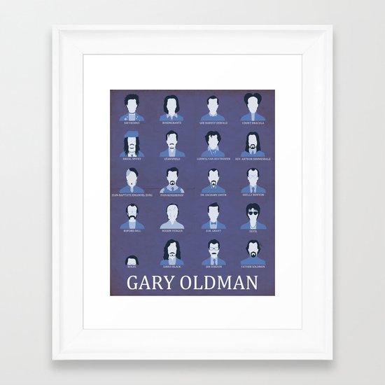 Gary Oldman Framed Art Print