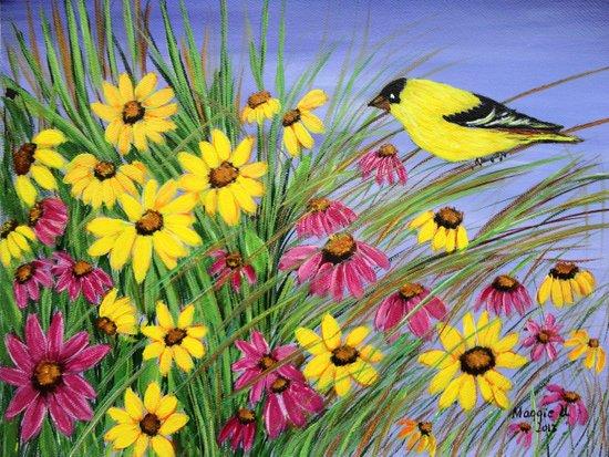 Bird in the garden  Art Print
