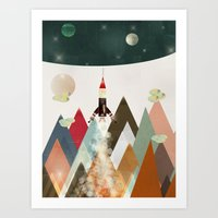 living on the moon Art Print