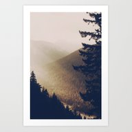Sunrise In The Mountains… Art Print