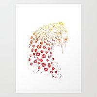 Kiss me Art Print