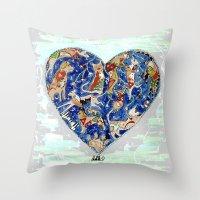 FURRY LOVE Throw Pillow