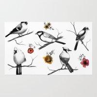 BIRDS & FLOWERS Rug