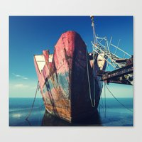 Abandoned Ship Canvas Print