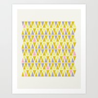 Lemon Sorbet Art Print