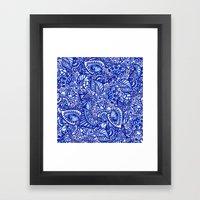 Modern Blue Handdrawn Wa… Framed Art Print