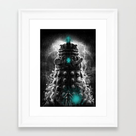Shadow Of The Dalek Framed Art Print