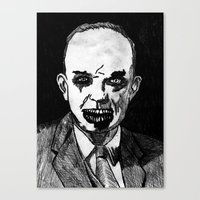 34. Zombie Dwight D. Eisenhower Canvas Print