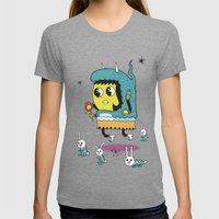The Birds And The Bunnie… Womens Fitted Tee Tri-Grey SMALL