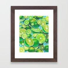 Lime Time Framed Art Print
