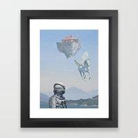 Floating Island Pizza Hu… Framed Art Print