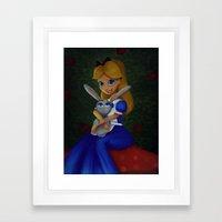 'Tis Love That Makes the World Go Round. Framed Art Print