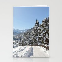 Winter in Switzerland Stationery Cards