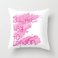 All The Way To London Throw Pillow